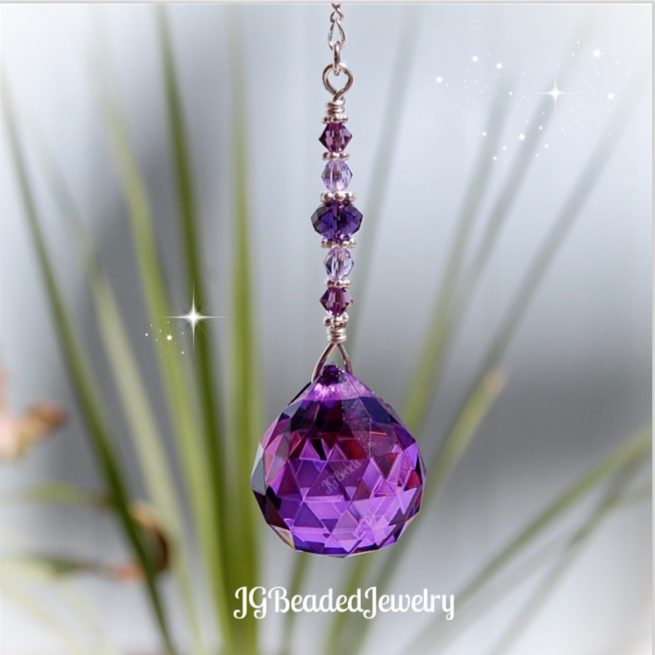 Purple Crystal Suncatcher