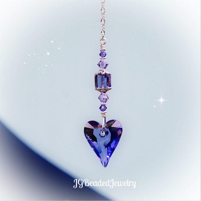 Swarovski Tanzanite Purple Crystal Heart