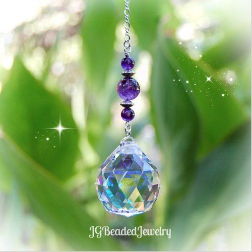 Amethyst Crystal Suncatcher