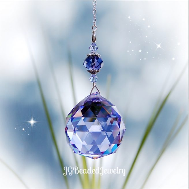 Large Purple Crystal Suncatcher