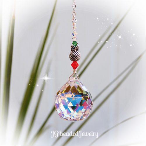Pineapple Crystal Suncatcher