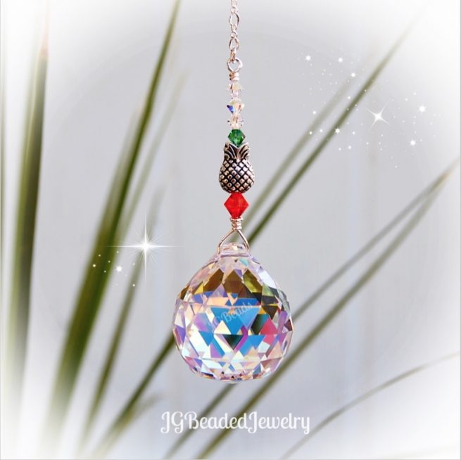 Pineapple Crystal Suncatcher