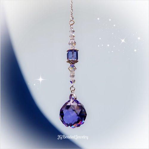 Purple Iridescent Swarovski Crystal Suncatcher