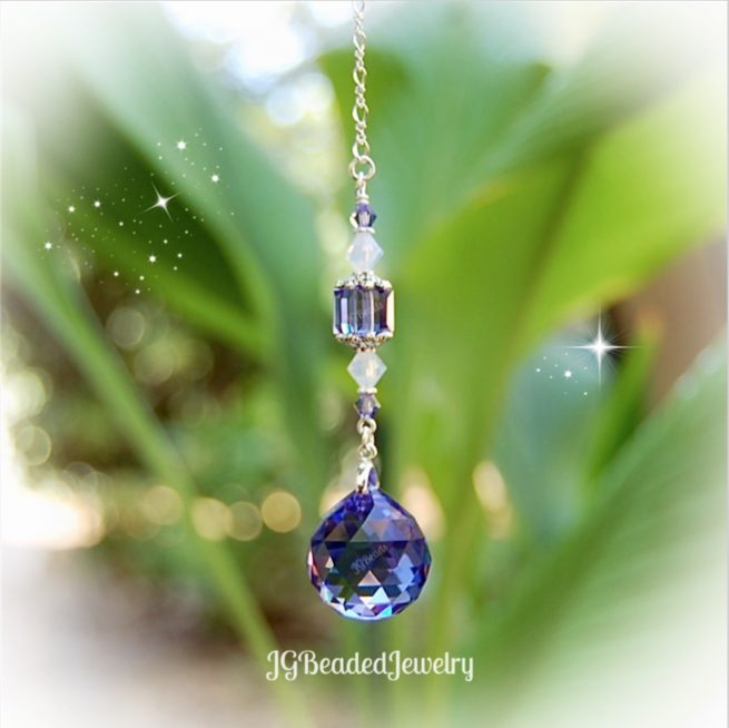 Purple Opal Swarovski Crystal Suncatcher