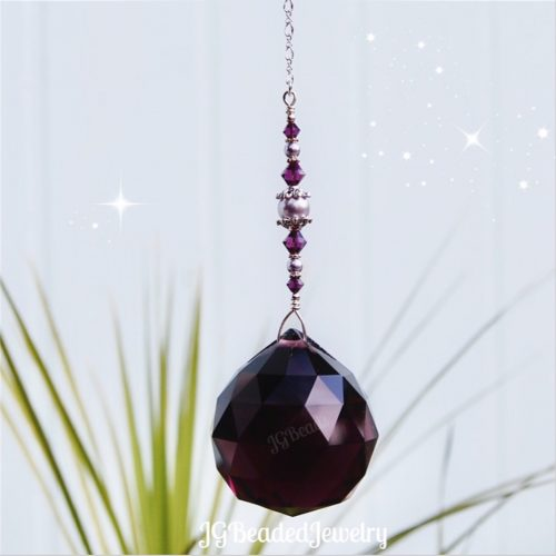 Amethyst Purple Crystal Suncatcher