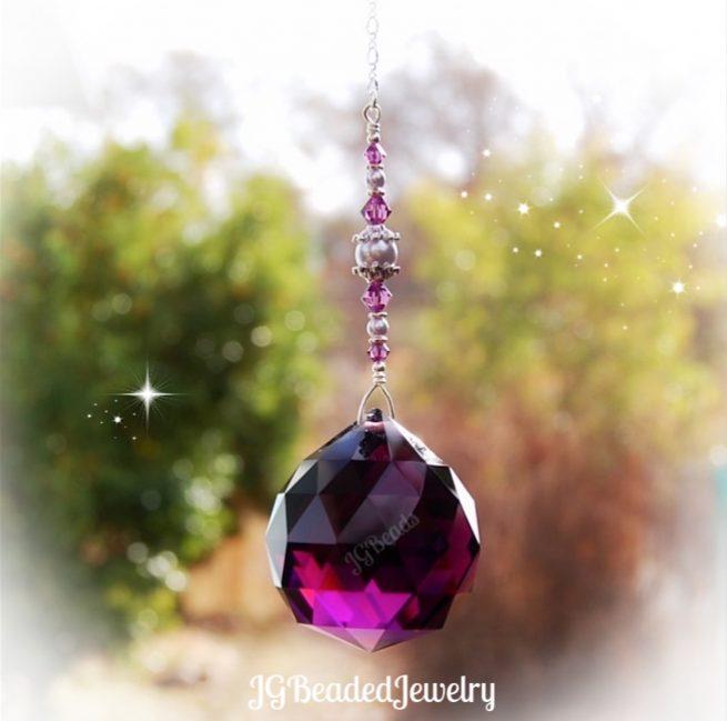 Amethyst Purple Crystal Suncatcher