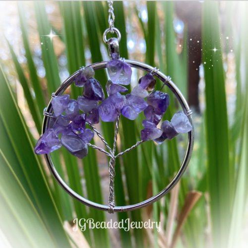 Amethyst Gemstone Tree of Life