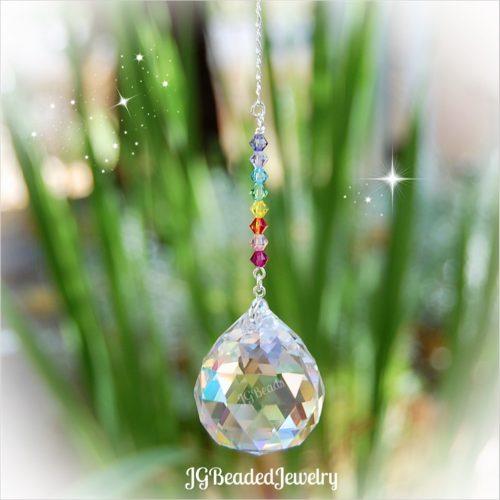 Pastel Rainbow Crystal Suncatcher