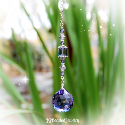 Swarovski Crystal Suncatcher Tanzanite and Violet