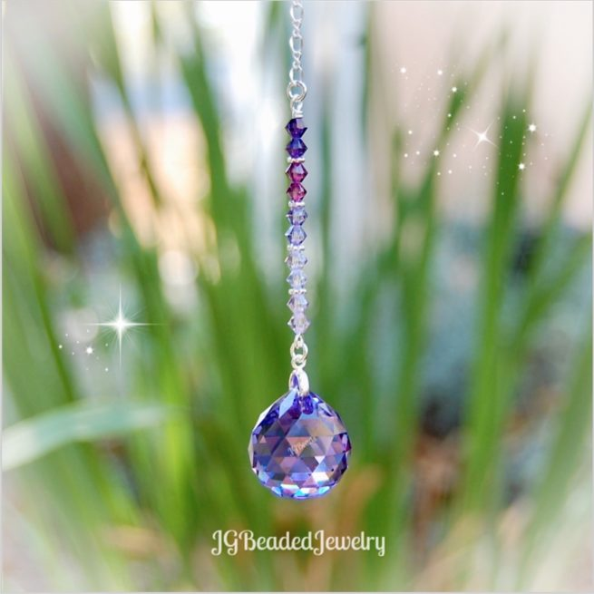 Purple Ombre Swarovski Crystal Suncatcher