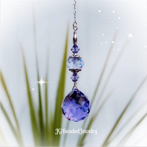 Purple Crystal Swarovski Suncatcher