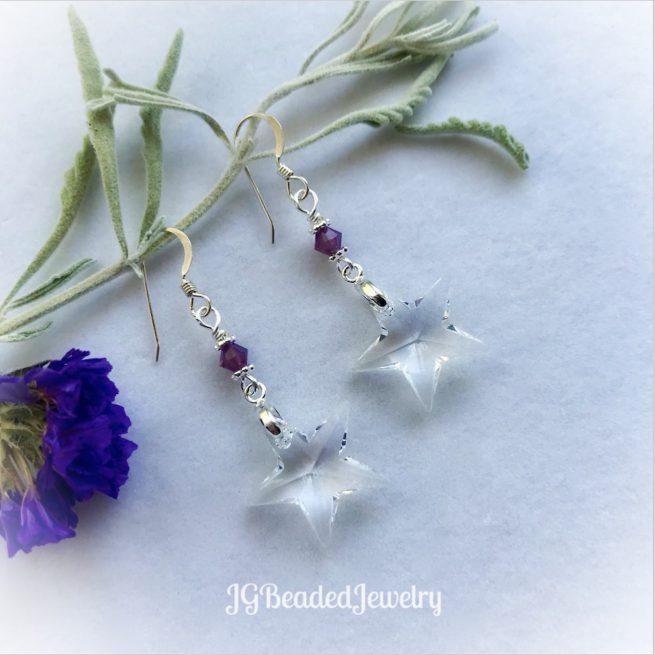 Swarovski Crystal Star Earrings