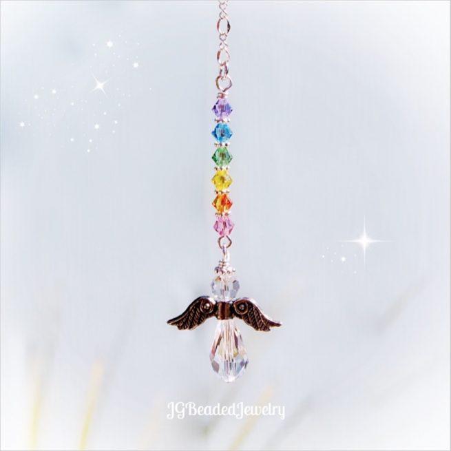 Pastel Rainbow Guardian Angel