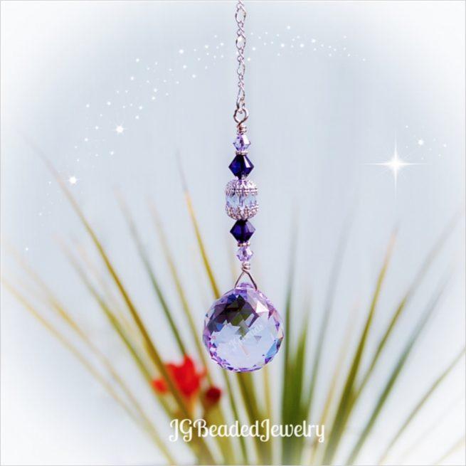 Light Purple Swarovski Crystal Suncatcher