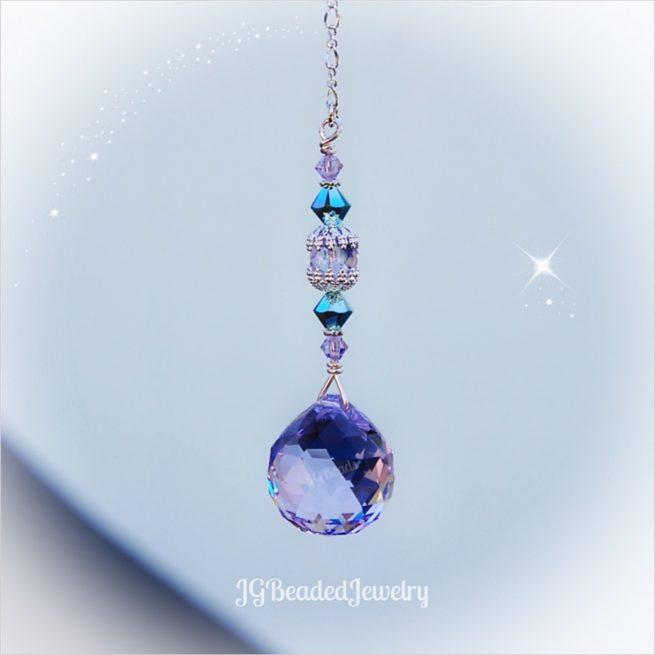 Swarovski Purple Turquoise Crystal Suncatcher