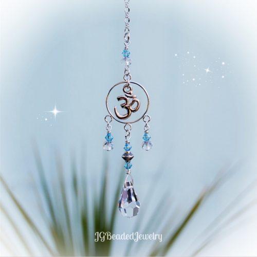 Om Crystal Suncatcher Decoration
