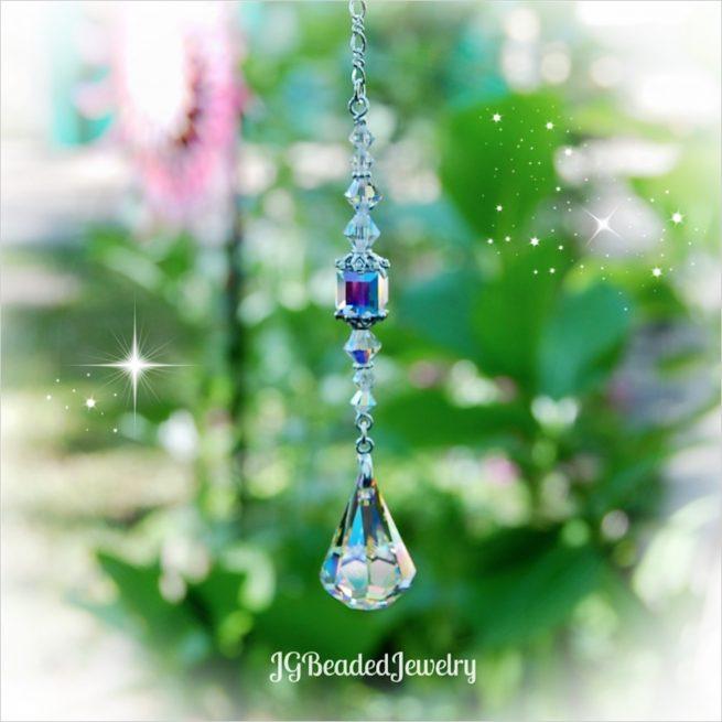 Swarovski Teardrop Crystal Suncatcher