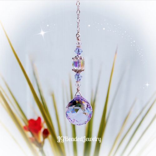 Violet Swarovski Crystal Suncatcher Prism