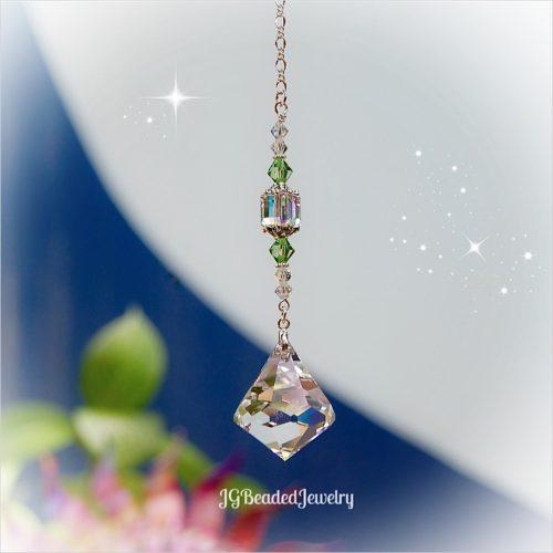 Peridot Swarovski Diamond Crystal Suncatcher