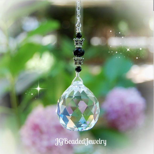 Black Butterfly Crystal Suncatcher