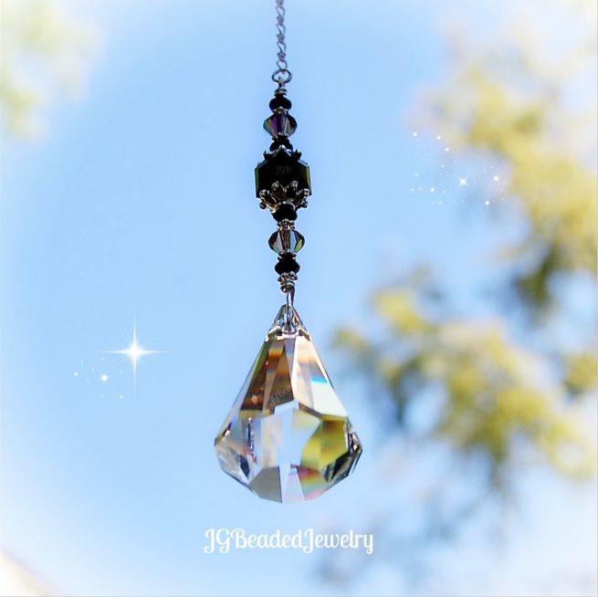 Swarovski Black Diamond Crystal Suncatcher