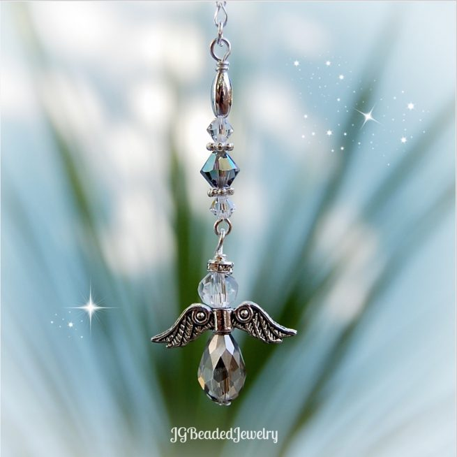 Silver Shade Guardian Angel Ornament