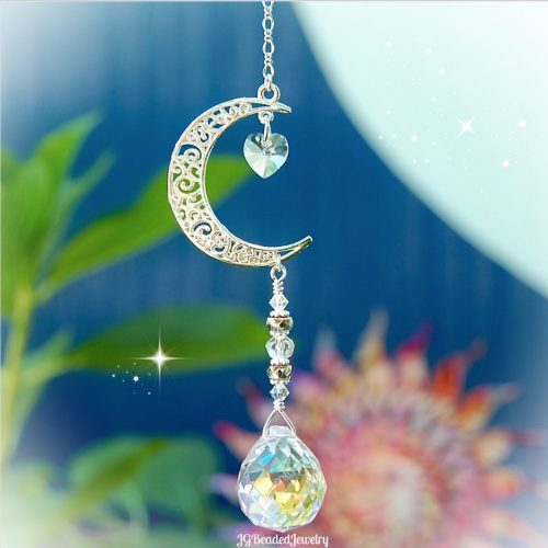 Love You To The Moon And Back Crystal Suncatcher