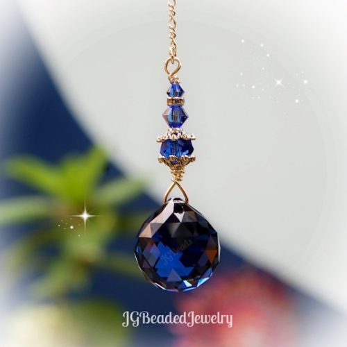 Sapphire Blue Swarovski Crystal Suncatcher