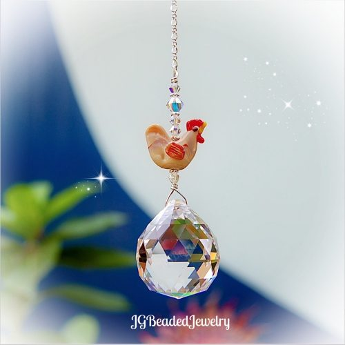 Chicken Crystal Suncatcher