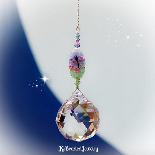 Dragonfly Prism Crystal Suncatcher