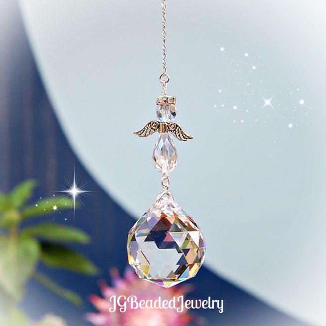 Guardian Angel Prism Crystal Suncatcher