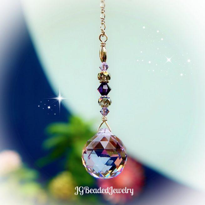 Swarovski Purple Prism Crystal Suncatcher