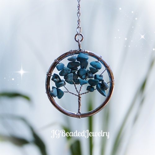 Small Turquoise Gemstone Tree of Life