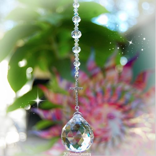 Cross Crystal Suncatcher