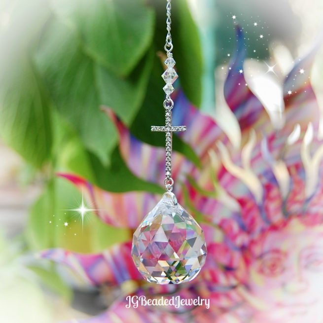 Cross Prism Crystal Suncatcher