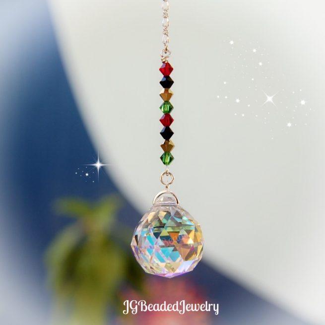 Rasta Prism Crystal Suncatcher