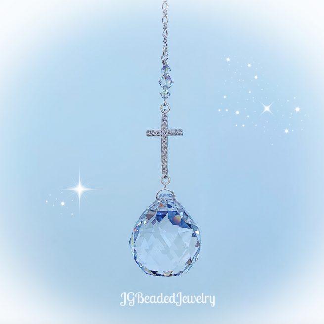 Cross Crystal Suncatcher