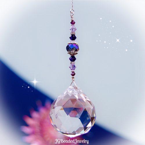 Purple Prism Crystal Suncatcher