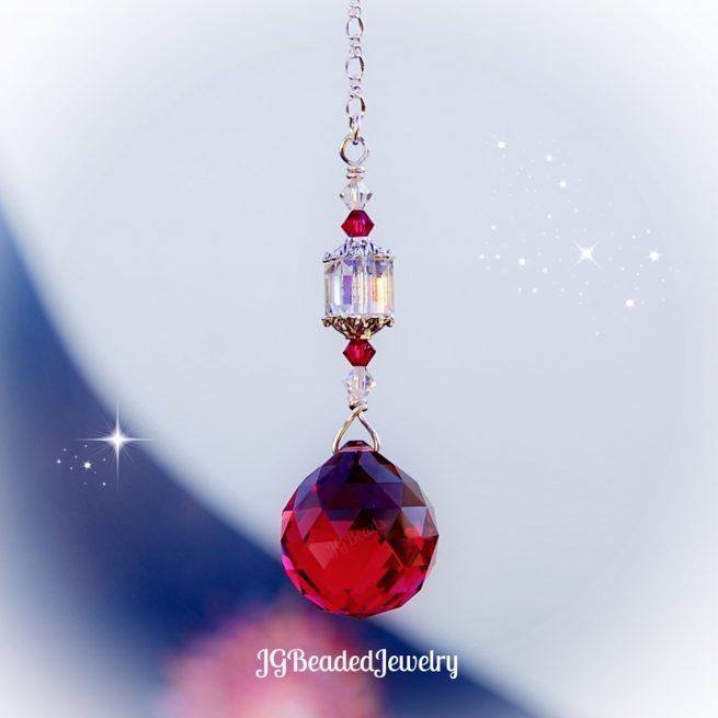 Ruby Red Swarovski Crystal Suncatcher