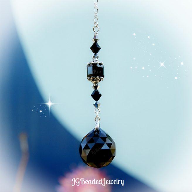 Black Crystal Suncatcher