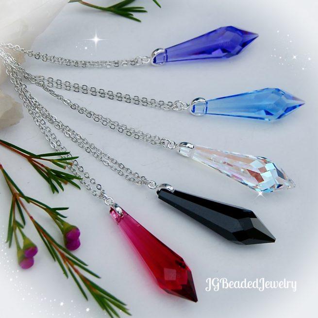Icicle Swarovski Crystal Necklace