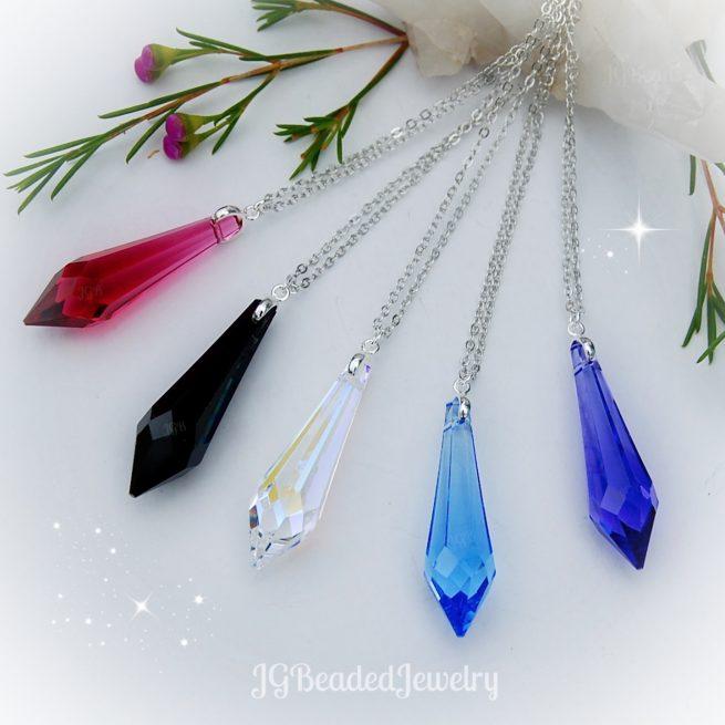 Icicle Swarovski Crystal Necklaces