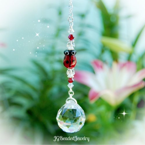 Ladybug Crystal Suncatcher Prism