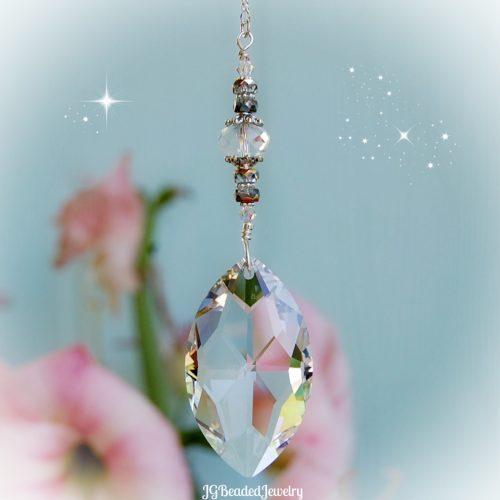 Oval Prism Crystal Suncatcher