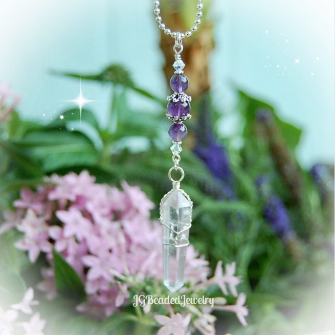 Amethyst Quartz Crystal Pendulum