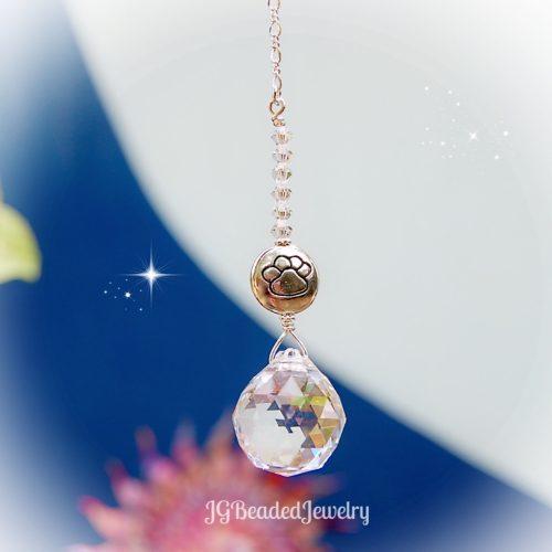 Paw Crystal Suncatcher Prism