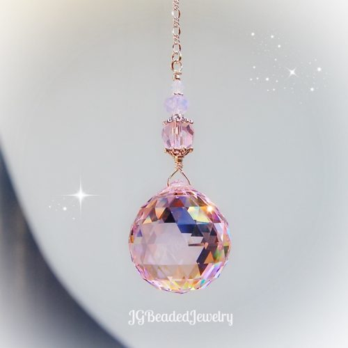 Pink Swarovski Crystal Suncatcher