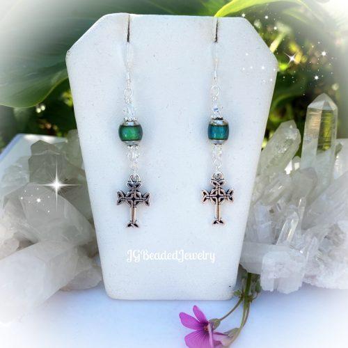 Celtic Cross Mood Earrings