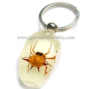 Glow in the Dark Real Spider Key Chain