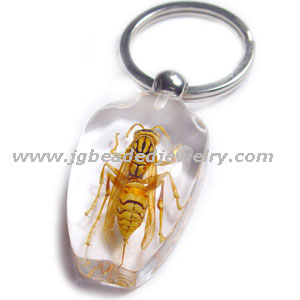 Tiger Wasp Keychain